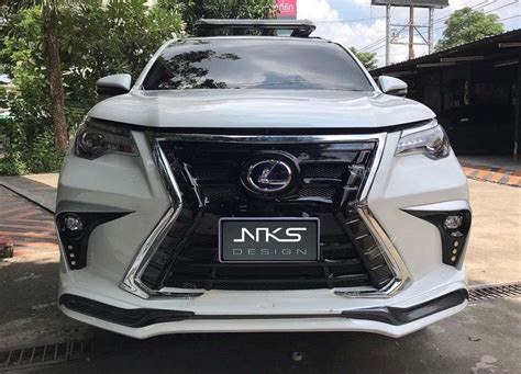 Toyota Fortuner Modification by Toyota Fortuner With Lexus Grille Five Exles