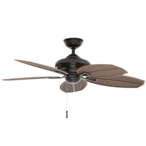48 outdoor ceiling fan hton bay palm beach ii 48 in outdoor natural iron