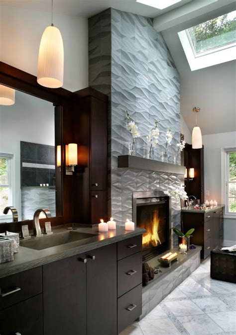 Impressive Interior Design's Modern Fireplace Tile Ideas