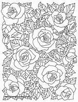 Coloring Adults Floral Blossom Cherry Tree Printable Adult Flower Rose Drawings Cafe Mandala Colouring Drawing Patterns Roses Sheets Getcolorings Getdrawings sketch template
