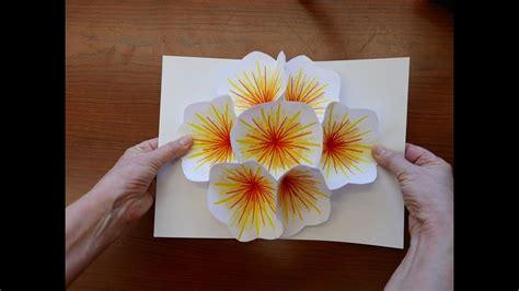 bouquet flower pop  card youtube