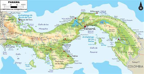 Physical Map of Panama - Ezilon Maps