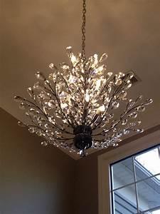 Foyer chandelier branch of light design joshua marshall