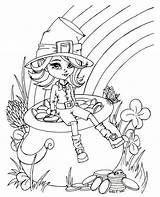 Leprechaun Coloring Pages Printable Female Treasure Finds sketch template