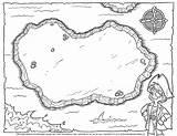 Treasure Pirate Map Blank Printable Maps Hunt Template Printables Templates Bw Children Mapa Timvandevall Tesoro Coloring Piratas Crafts Mapas Pirata sketch template