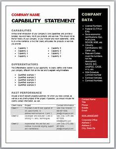 get started quickly With capabilities statement template