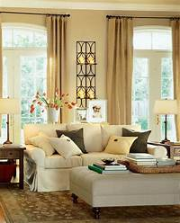 living room decoration ideas Modern Warm Living Room Interior Decorating Ideas by Potterybarn