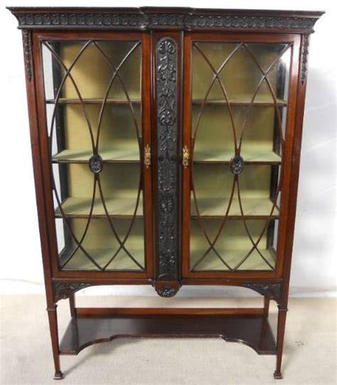kitchen cabinets display georgian style carved mahogany china display cabinet 2972