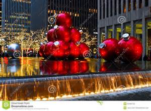 commercial christmas decorations christmas ornaments in manhattan nyc editorial