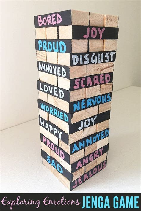 exploring emotions jenga game emotions game jenga game