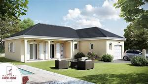 sauvetiere modele maison plain pied With charming modele de maison en l 1 maison moderne en u
