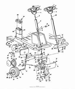 Mtd 13af560b352  1997  Parts Diagram For Steering Assembly