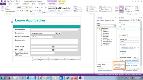 workflow once approver approved infopath form email is