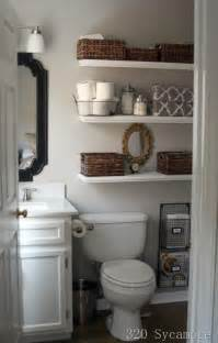 bathroom small storage ideas for makeup towels toilet paper on shelves - Ideas For Storage In Small Bathrooms
