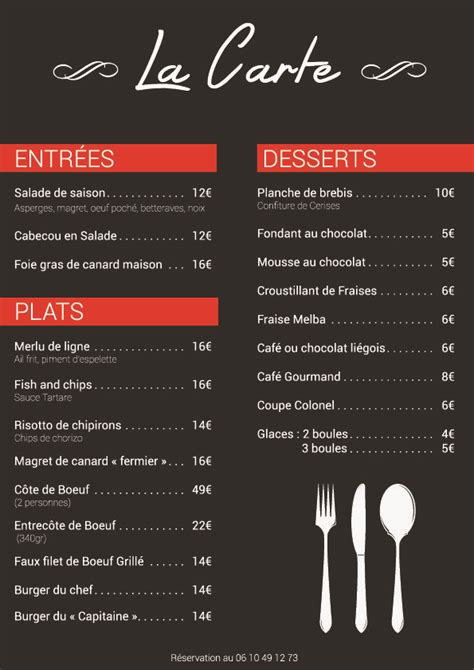 carte de dessert restaurant les 25 meilleures id 233 es de la cat 233 gorie carte du bar sur conception de menu de