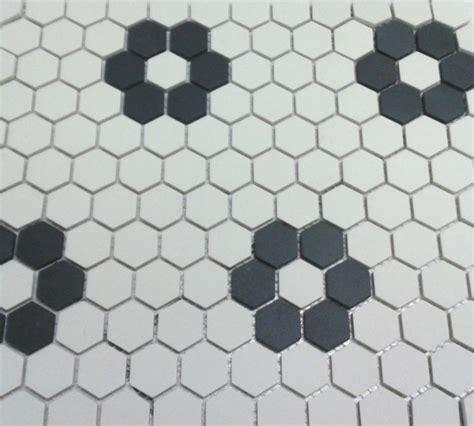 black and white hex tile stylish hexagonal bathroom floor tile pattern