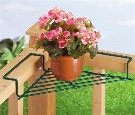 Banister Planters by Corner Deck Railing Planter Flower Pot Rail Wire Shelf