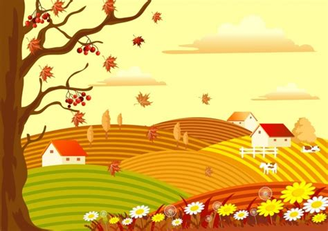 countryside  vector    vector