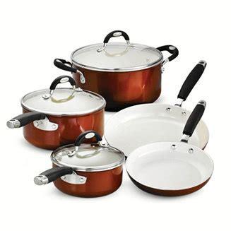 tramontina style ceramica metallic copper  pc cookware set reviews home macys