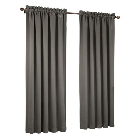 sun zero steel gregory room darkening pole top curtain