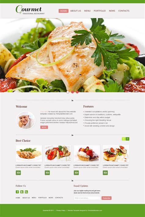 restaurant website templates free website template restaurant