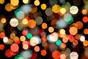 Photo of bokeh lights on black background Stock Photo