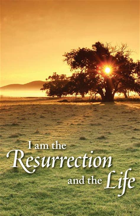 resurrection   life funeral bulletin