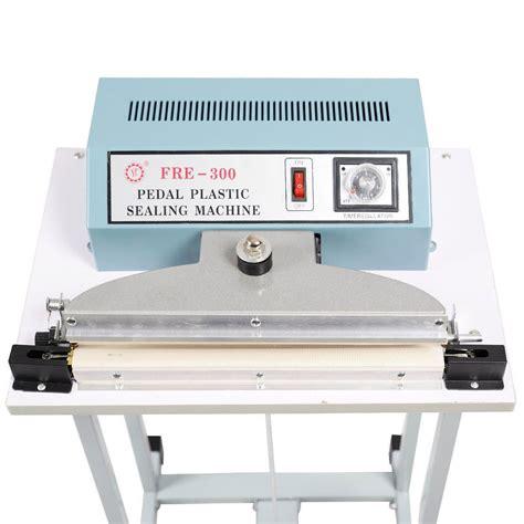 convenience boutique   heat sealer foot pedal impulse plastic bag sealing machine