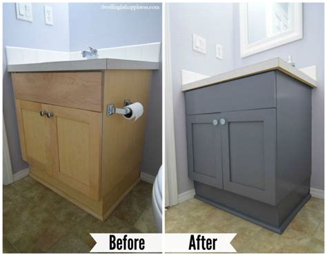 painting bathroom vanity before and after how to paint your bathroom vanity the easy way