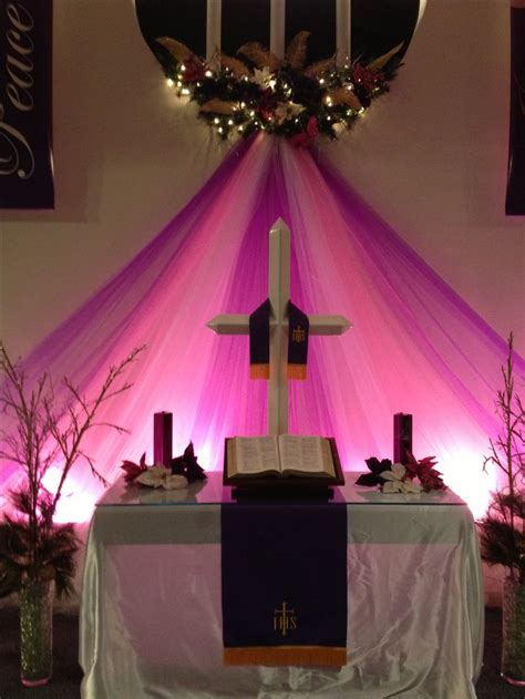 advent  christmas sanctuary decor church altar
