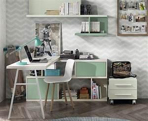 Bureau Avec étagère : bureau avec tag res meubles ado meubles ros ~ Carolinahurricanesstore.com Idées de Décoration