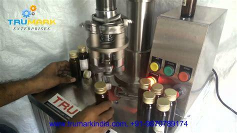 semi automatic bottle capping machine cap sealing machine youtube