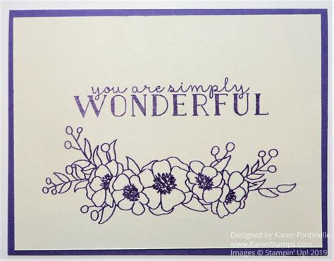 easy monochromatic bloom grow card simple cards stamp