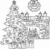 Fireplace Coloring Christmas Drawing Pages Tree Printable Sheets Winter Colouring Fireplaces Trees Drawings Kidsdrawing Colorings Paintingvalley Getcolorings sketch template