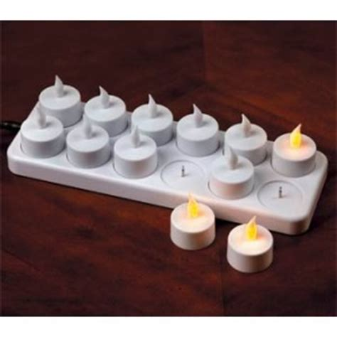 electric tea lights new 12 x flameless rechargeable electric tea lights