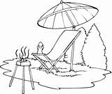 Chair Beach Drawing Lounge Clip Coloring Pages Getdrawings sketch template