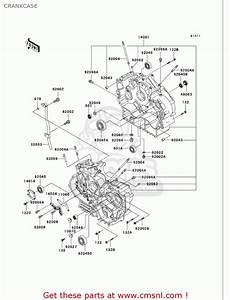 Kawasaki Vn750a18 Vulcan 750 2002 Usa California Crankcase