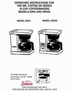 Mr  Coffee Sr10 Operating Instructions Manual Pdf Download
