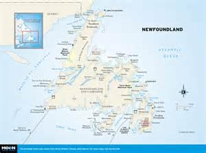 Newfoundland Canada Map Printable