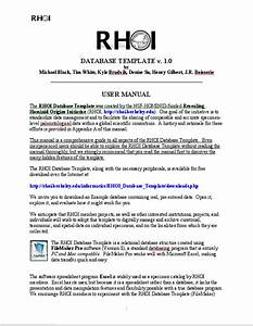 Rhoi Database Template Downloads