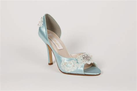light blue heels for wedding wedding shoes light blue lace 314 00 via etsy it 39 s
