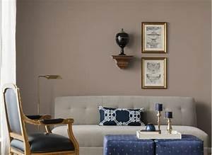 peinture-couleur-taupe-salon-design - IdeeCO