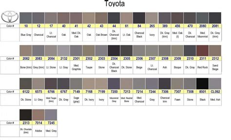 toyota interior color codes toyota 4runner interior colors beloved241116 org