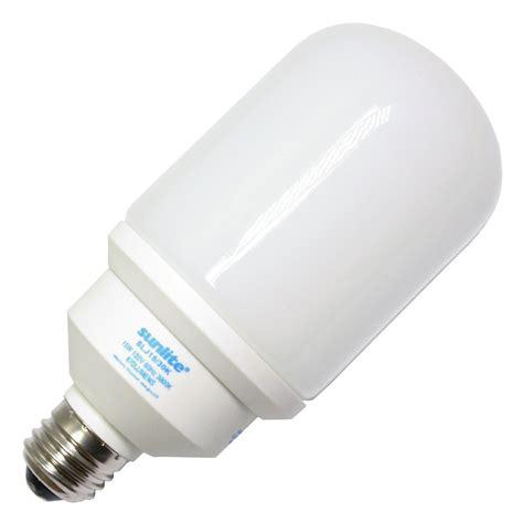 compact fluorescent light bulbs sunlite 05326 slj15 30k bullet base compact