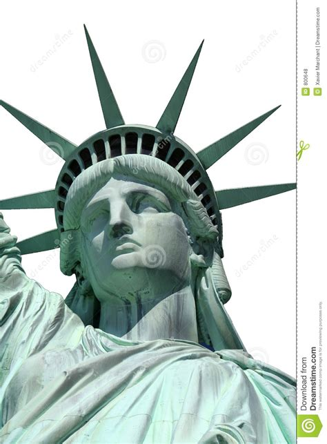 statue  liberty head isolated royalty  stock