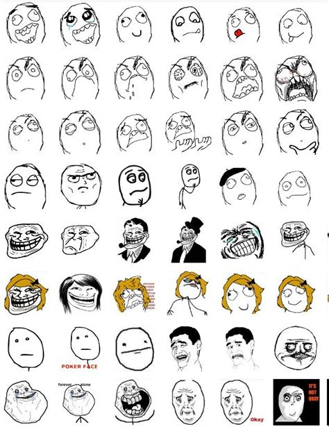 New Meme Faces - 72 best emotions also known as emoticons images on pinterest