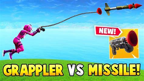 new grappler gun vs guided missile fortnite fails
