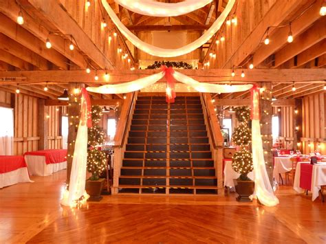 brick walker tavern rustic barn wedding ceremony