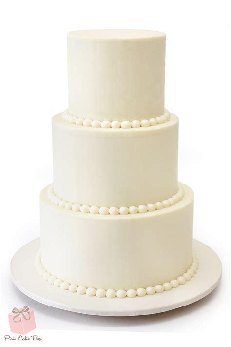 Simple Buttercream Wedding Cake Pink Cake Box