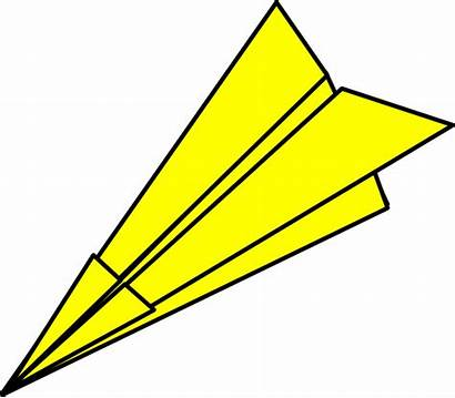 Airplane Paper Clipart Yellow Plane Clip Paperplane